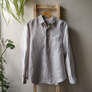 J Crew Slim Irish Linen Button Up Large